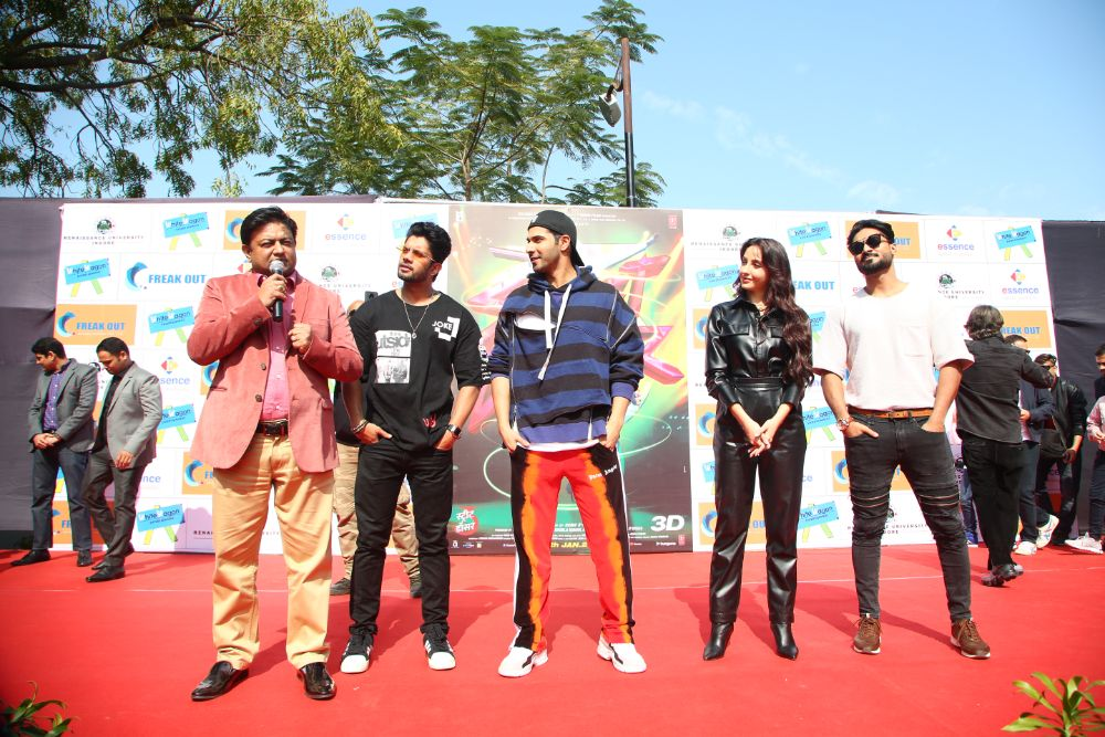 Varun Dhawan, Nora Fatehi and Salman Yusuf Khan visited our campus to motivate the students of demonix club.
