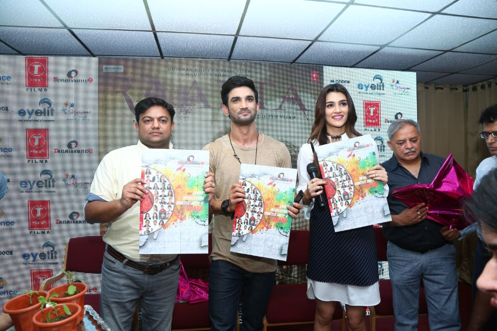 Kriti Sanonand, Sushant Singh Rajput came to campus for launch of the college brochure