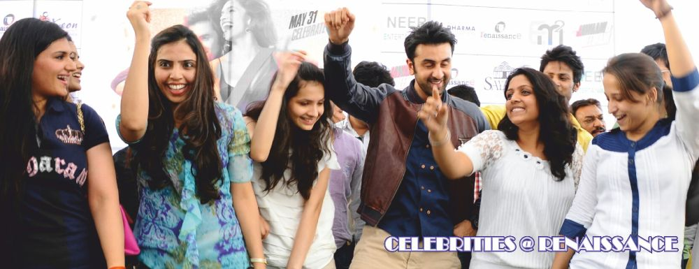 Ranbir Kapoor visited the campus to provide lifestyle guidelines to the students of Fashion club Fayonner